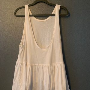 Free people open back tank